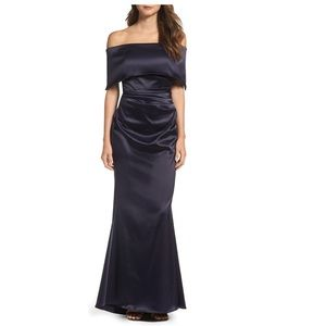 Off the Shoulder Gown VINCE CAMUTO black stain